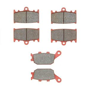 MEXITAL Plaquettes de frein Céramique Avant et Arrière pour GSF650 Bandit/GSX 650 (08-14) / SV 1000(03-07) / GSF 1250 Bandit(07-16) / GSX 1250 (10-16) GSF 1200 Bandit (06-10)