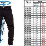 Qaswa Homme Moto Jeans Motards Pantalon Renforcée Aramide Protection Motorcycle Pants, Dark Blue, 38W / 34L