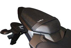 TRIBOSEAT Housse de siège Anti Slip Passenger conçue pour s'adapter à la Couleur Noire Compatible avec Yamaha MT07 (2014-2017)