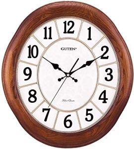 17 Pouces Horloge Rétro Silencieuse Non Coutil Horloge Murale Décorative Grand Salon Horloge Calme Cuisine Horloge À Piles À Quartz Analogique Mouvement Mur Horloges