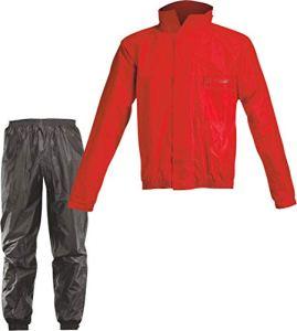 Acerbis Combinaison de pluie complète Logo Noir rouge/noir