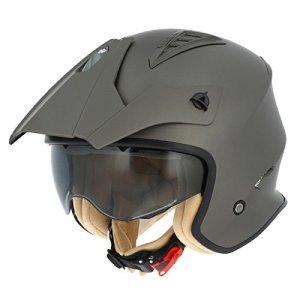 Astone Helmets Casque Moto Jet Minicross, Brun Matt, Taille XL