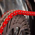 Chaîne double renforcée rouge pour Yamaha Raptor YFM 700 R