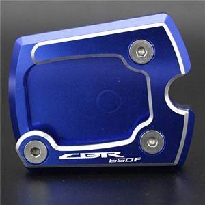 CHENWEI- Accessoires Béquille Side Plate Stand Pad Agrandir Extension for béquille Honda CBR650F (Color : Blue)