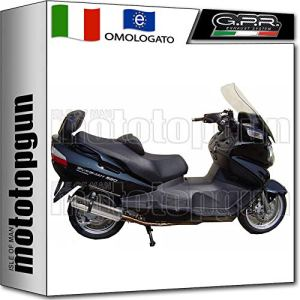 GPR SCOM.29.4RT Échappement complet homologué 4ROAD ROUND compatible avec Suzuki Burgman AN 650 2002 02 2003 03 2004 2005 05 2006 06 2007 07 2008 08 2009 09
