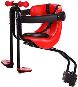 GUXINHOME Selle de vélo avant amovible pour enfant avec pédale de protection avec poignée Rouge
