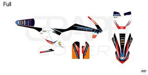 KIT Deco Motocross KTM SX 65 Krystal Bleu Orange 2016-2020