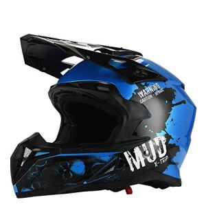 KSK Casque Mud Blue Cross Décoré ECE R 22.05