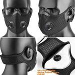 Masque Anti Pollution,Anti Poussiere Masque de Sport avec Filtre à Charbon Actif pour PM2,5,Motos,Sport,Running,Escalade