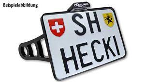 Motorize-HeinzBikes Side Mount Support de Plaque d'immatriculation chromé Dyna jusqu'à 2017, CH, avec éclairage de Plaque minéralogique à LED
