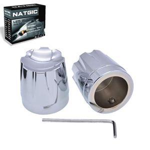 NATGIC Kit de protection pour écrous avant CNC Edge Cut pour Harley Touring 08-15 FLT FLH Dyna Softail