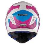 NENKI Casque Moto Cross NK-316 pour Hommes et Femmes ECE approuvés (Blanc Bleu Violet, L)