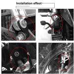Qii lu 2 pièce 5cm Amortisseurs de Moto Surélevés Rehaussement Élévateur d'Amortisseur de Moto Rehausseur d'Aappareil pour Châssis(avec vis)
