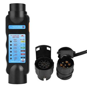 Testeur de prise de remorque, 12V 7Pin / 13Pin Voyant de remorquage Câble de câblage Prise de circuit Testeur de prise de courant pour remorques automatiques