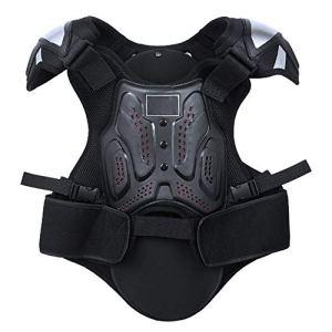 TZTED Gilet d'armure Armure Protecteur Le Dos et la Poitrine pour Adulte, Vélo, Moto,Noir,XL