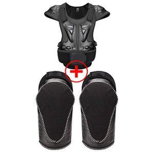 TZTED Protection Dorsale Moto Equitation Armure Patinage Skate Snowboard Homme ou Femme pour Moto Cross VTT,Noir,M