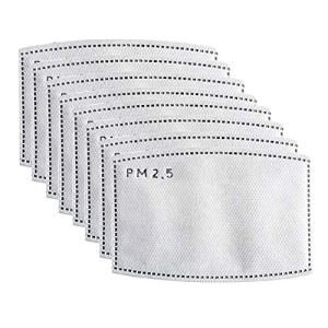 Activated Carbon Filters, Non-Woven Cloth with 5 Layers Replaceable Protective Parts Filters P-M 2.5 for Women Men Kids 20pcs