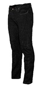 Bikers Gear Australia, Jeans de Moto pour Femmes CE Genou Armure KEVLAR Stretch Denim, Noir, EU 46S (UK 18S, XXL)