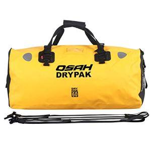 BORLENI Sac de Voyage étanche Duffel Bag pour Kayak/Bateau/Canoeing/Pêche/Camping/Piscine/Rafting/Snowboard, Jaune 60L