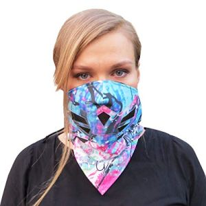 Grace Folly Half Face Mask for Cold Winter Weather. Use This Half Balaclava for Snowboarding, Ski, Motorcycle. (Many Colors) (Rainbow)