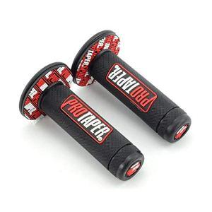 HAOHAOCHENG-WL Remplaçable Moto Guidon Partie Motocyclisme Compatible Protaper Yamaha K Husqvarna T M Rechange for Fosse Grip Accessoires Universal Case Cover Maj (Couleur : Black and Red)