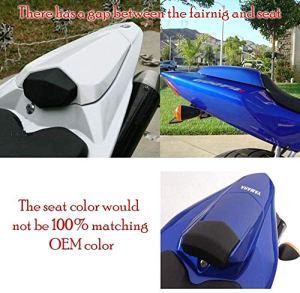 JIANXING Durable Moto en Plastique ABS arrière Pélion Passager Dur Cowl Siège Section Couverture Carénage for 2008-2018 Yam,aha YZF-R 125 R125 15 16 17 (Color : Red)