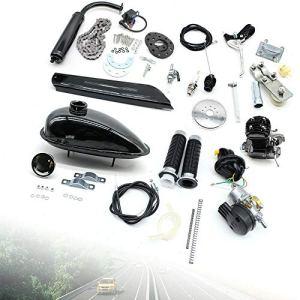 Kit moteur à essence 50 cc pour moto, vélo électrique, kit de conversion 2 temps moteur auxiliaire à essence monocylindre pour vélo de dirt 26″ à 28″