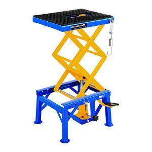 MSW Table Elévatrice Table de Levage MSW-MHB-135 (capacité de Charge : 135 kg, Hauteur: 35 – 87 cm, Plateforme (L x l) : 41 x 35 cm, cosses de Fixation, sécurisé Via Barre de Verrouillage)
