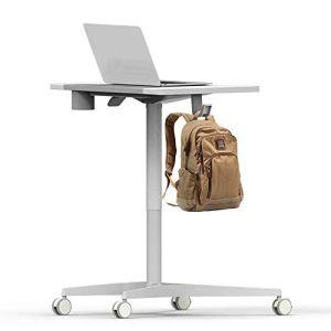 Podium Multifonctionnel Rolling Laptop Laptop Desk Mobile à roulettes Bureau Permanent Table Conférence Table de Chevet Table Afficher Charme (Couleur: Blanc, Taille yqaae (Color : White)