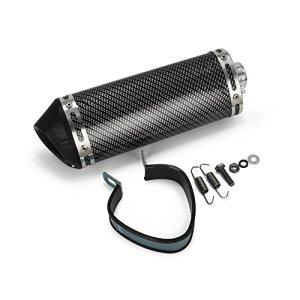 Silencieux d'échappement universel 3,8 cm avec filtre DB amovible à enfiler pour moto, scooter – Couleur fibre de carbone