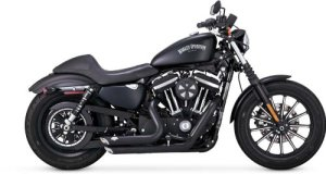 Vance and Hines Shortshots Staggered Full System Exhaust for Harley Davidson 20 – One Size by Vance & Hines