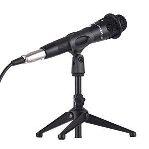 WCY Microphone Interface Audio USB Filaire Microphone à condensateur Microphone Bureau trépied (Couleur: Noir, Taille: Taille) yqaae (Color : Black)