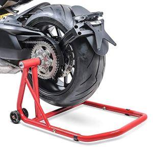 ConStands Single Béquille d'atelier Ducati Monster 1100/ Evo 09-13 rouge, Monobras adaptateur inclus