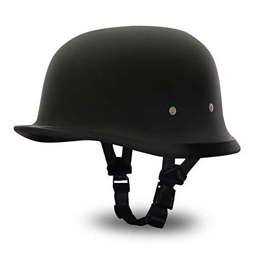 Daytona German Basic/Custom Novelty Cruiser Motorcycle Helmet – Dull Black / Large by Daytona Helmets