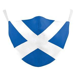 eBoutik – Masque visage motif drapeau national – Respirant/lavable/réutilisable
