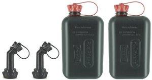 FuelFriend®-BIG Max. 2,0 litres + Bec verseur verrouillable – Jerrican avec Certification Un – 2 pièces pour Un Prix spécial