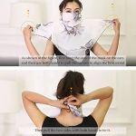 Keleily Masque Visage Foulard Femme 2 Pièces Bandana Foulard Foulard Respirant Été Femme Masque Solaire pour Poussière, Protection Solaire, Extérieur, Vélo, Pêche, Rouge, Bleu