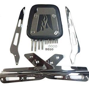NBX- Barre de dossier en cuir chromé pour moto avec coussin en cuir Compatible avec toutes les années VTX 1300C/ALL Year VTX 1800C/2005-2011 VTX 1800F