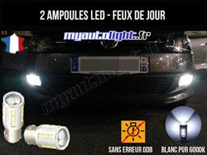 Pack feux de jour à led blanc xenon pour Volkswagen Polo 5 6R (09-14)