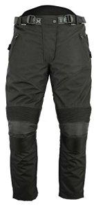 Pantalon de moto renforcé homologué CE – femme – tissu Cordura imperméable – noir uni – W30 – UK 10 Regular