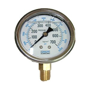 Pression 60MM hydraulique / jauge de pression sismique rempli d'huile compteur 700KG 10000 psi