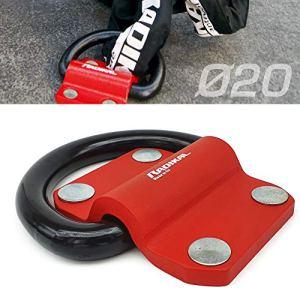 RADIKAL RK60 Ancrage au Sol ou au Mur pour Moto de Garage, Caravane, remorque, Anneau 20 mm, 100% Acier. Sécurité maximale