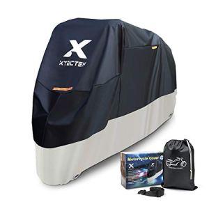 XYZCTEM Housse de Protection pour Moto, Protection Extérieure Imperméable en Toutes Saisons, Housse de Moto en Tissu Oxford Durable et Résistant (245 x 105 x 125 cm)