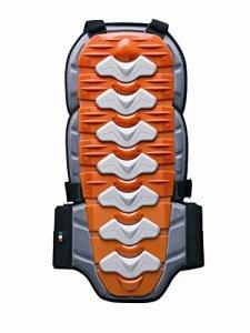 ZERO7 Protection dorsale pour motocross, Rouge/Orange, Taille M
