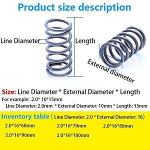 ZZB-LSTH, 5pcs Ressort de Compression comprimé Ressort retracing Ligne Ressort Diamètre 2,0 mm, diamètre Externe 16 mm, Longueur 60mm-100mm (Size : 80mm(5Pcs))