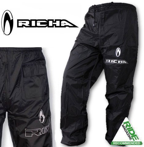 7RW100/6XL – Richa Pluie Warrior Pantalon Textile 6XL Noir