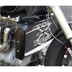 cache radiateur / grille de radiateur Triumph Rocket 3 «Union Jack» + grillage noir