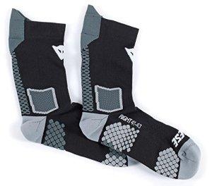 Dainese 1915955_604_L Chaussette D-Core Mid Sock, Noir (Noir/Rouge), Taille: L