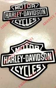 Emblème Logo Decal Harley Davidson, couple Stickers, Résine Effet 3d. Pour réservoir ou casque