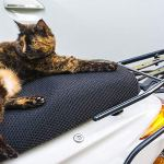 LIHAO Housse de Selle Respirante pour Moto Scooter, Couvre Selle Siège Protection Solaire Couverture de Maille – Taille XXL